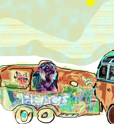 Digital Art - Summer Roadtrip-all In by Zsanan Narrin