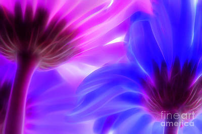 Purple Digital Art - Summer Romance by Krissy Katsimbras