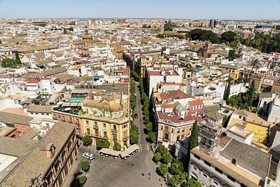 Photograph - Summer Rooftops In Seville Spain by Georgia Mizuleva