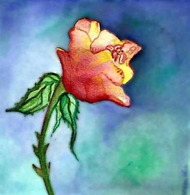 Jennifer Pickering Painting - Summer Rose by Jennifer ONeill Pickering