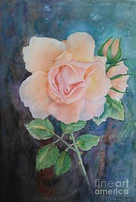 Summer Rose - Painting Art Print by Veronica Rickard