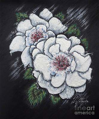 Drawing - Summer Roses by Scott and Dixie Wiley