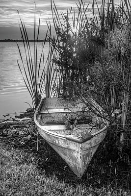 Photograph - Summer Rowboat In Black And White by Debra and Dave Vanderlaan