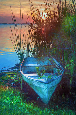 Photograph - Summer Rowboat Painting by Debra and Dave Vanderlaan