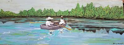 Painting - Summer Rowing by Otis L Stanley