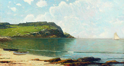 Sandy Cove Painting - Summer Sailing by Alfred Thompson Bricher