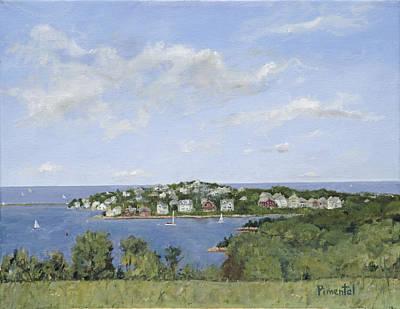 Summer Sailing  Hingham Massachusetts Art Print by Mark Pimentel