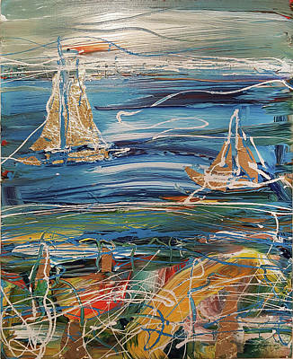 Painting - Summer Sailing by Martin Bush