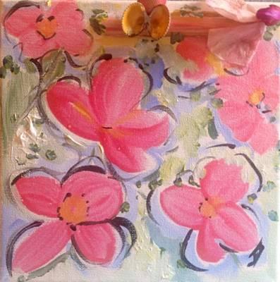 Painting - Summer Seaside Garden  by Judith Desrosiers