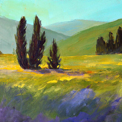 Painting - Summer Sentinels by Nancy Merkle