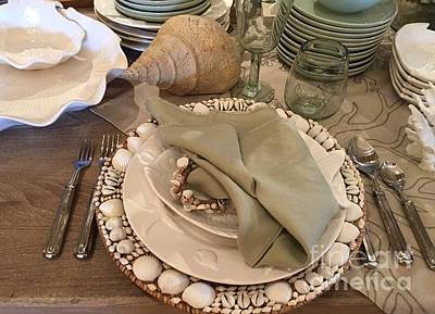 Photograph - Summer Shore Place Setting by Jeannie Rhode