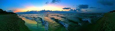 Photograph - Summer Shoreline Sunset by Nick Heap