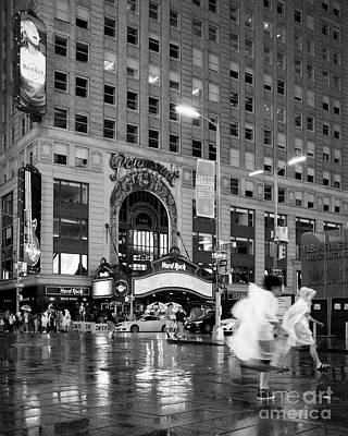 Photograph - Summer Shower, Times Square, Nyc #130559 by John Bald