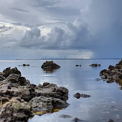 Ocean Photograph - Summer Showers by Ric Schafer