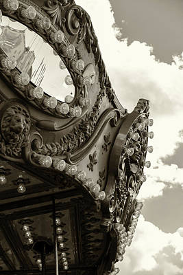 Summer Skies And Carousel Art Print