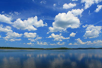 Photograph - Summer Skies Over Lake by John Burk
