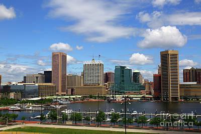 Photograph - Summer Skies Over The Inner Harbor Baltimore by James Brunker