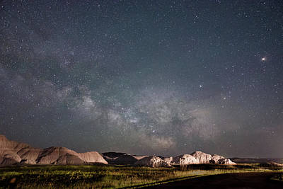 Photograph - Summer Sky At Badlands  by Dakota Light Photography By Dakota