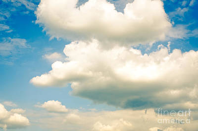 Shape Photograph - Summer Sky Blue Sky White Clouds by Andy Smy