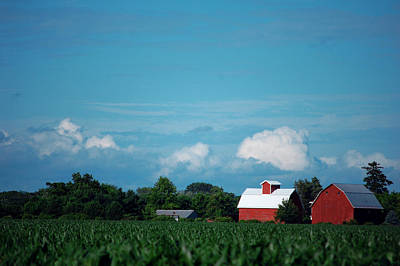 Photograph - Summer Sky Summer Farm by Jame Hayes