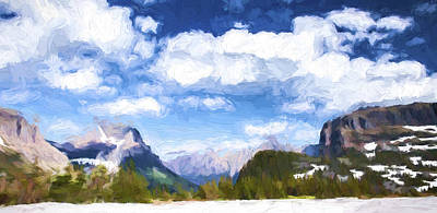 Panoramic Digital Art - Summer Snow II by Jon Glaser