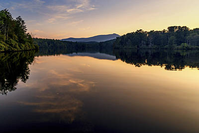 Price Lake Sunset - Blue Ridge Parkway Art Print