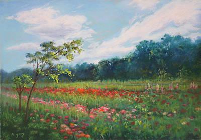 Pastel - Summer Solstice II by Nancy Yang
