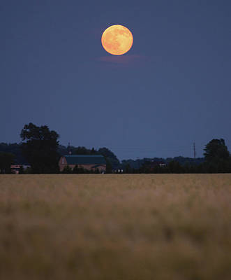 Summer Solstice Photograph - Summer Solstice Moonrise by Cale Best