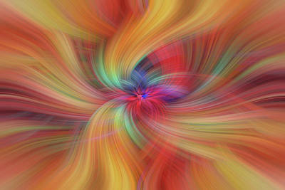 Photograph - Summer Solstice. Orange Yellow Red Abstract by Jenny Rainbow