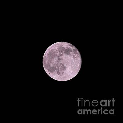 Photograph - Summer Solstice Strawberry Moon by Bridgette Gomes