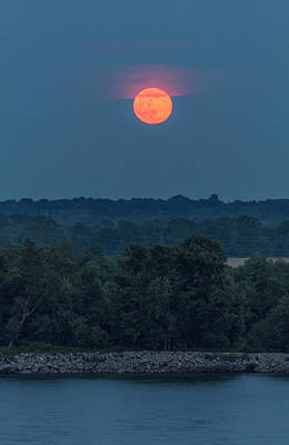 Photograph - Summer Solstice Strawberry Moon by Garry McMichael