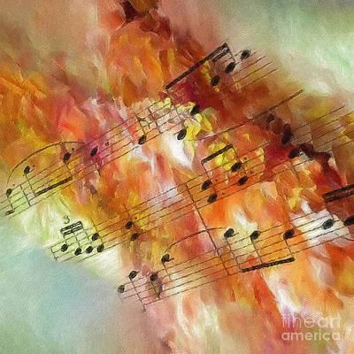 Digital Art - Summer Sonata Sq by Lon Chaffin