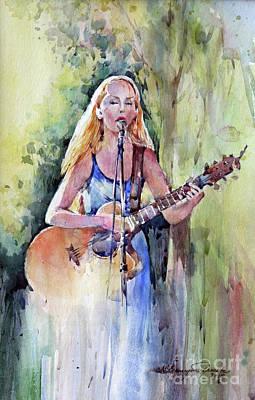 Green Painting - Summer Song by Natalia Eremeyeva Duarte