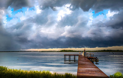 Turbulent Skies Photograph - Summer Storm Blues by Karen Wiles