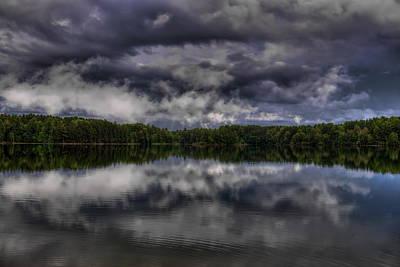 Rhinelander Photograph - Summer Storm Clouds Over Buck Lake by Dale Kauzlaric