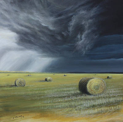 Eerie Painting - Summer Storm by Cynthia McLaren