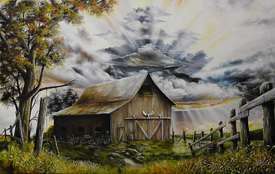 David Paul Painting - Summer Storm by David Paul