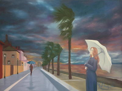 Summer Squall Painting - Summer Storm by Fatima Miguel
