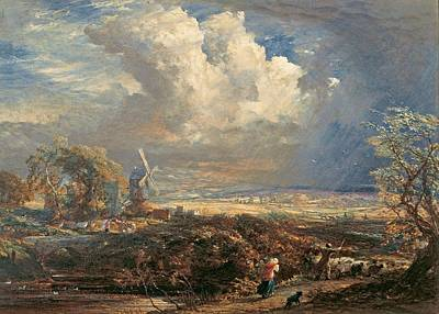 Summer Storm Painting - Summer Storm Near Pulborough, Sussex By Samuel Palmer, Circa 1851 by Celestial Images