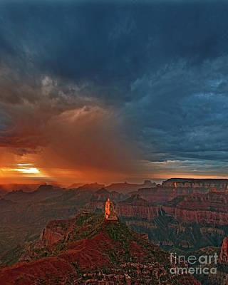 Photograph - Summer Storm North Rim Grand Canyon Arizona by Dave Welling
