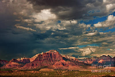 Photograph - Summer Storm Zion National Park Utah by Dave Welling
