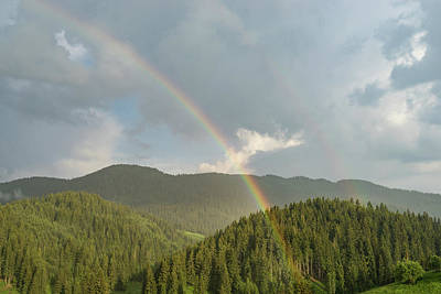 Photograph - Summer Storms And Rainbows - Rhodope Mountain Range In Bulgaria by Georgia Mizuleva