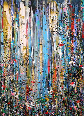 Painting - Summer Storms And Wild Things Large Painting by Angie Wright