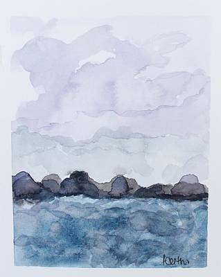 Summer Thunderstorm Painting - Summer Storms by Keetha Mosley