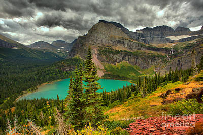 Photograph - Summer Storms Over Grinnell Lake by Adam Jewell