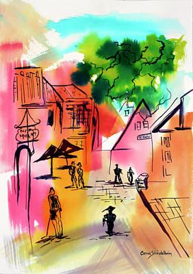 Painting - Summer Strolling by Carol Schindelheim