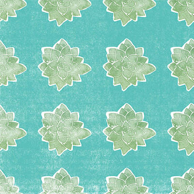 Pattern Mixed Media - Summer Succulents- Art By Linda Woods by Linda Woods