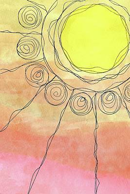 Mixed Media - Summer Sun Design In Yellow by Patricia Strand