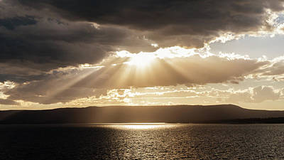 Photograph - Summer Sun On Yellowstone Lake by Janet Jones