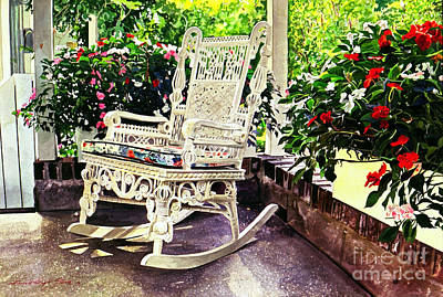 Summer Sun Porch Art Print by David Lloyd Glover